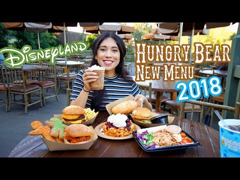 You Must Try Disneyland's All New Food At Hungry Bear Restaurant! | Disneyland food