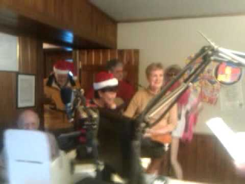 D.C. Strings Christmas music on the radio.