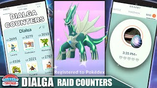 THE SHINY *DIALGA* COUNTER GUIDE! 100 IVs, MOVESET & WEAKNESS - DRAGON STEEL RAID BOSS   Pokémon Go