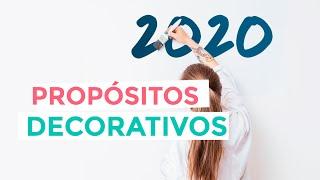 Propósitos decorativos para el nuevo año 2020