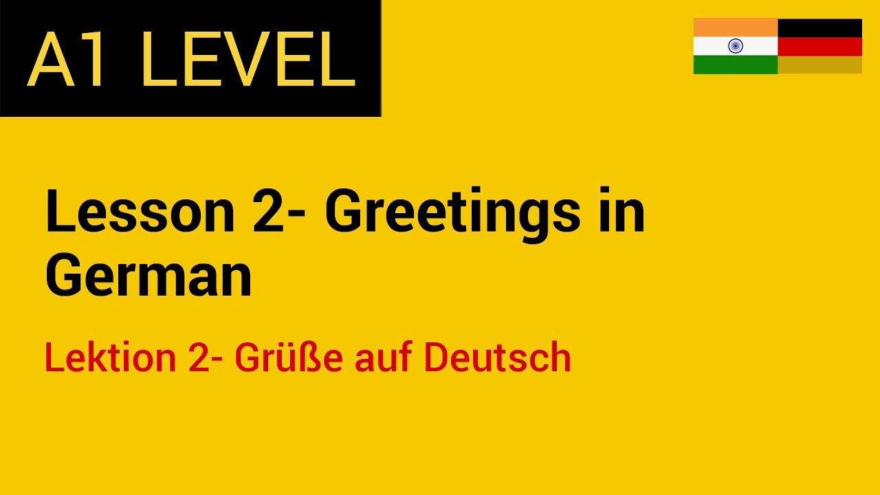 Lesson 2 Greetings In German Through Hindi And English Youtube
