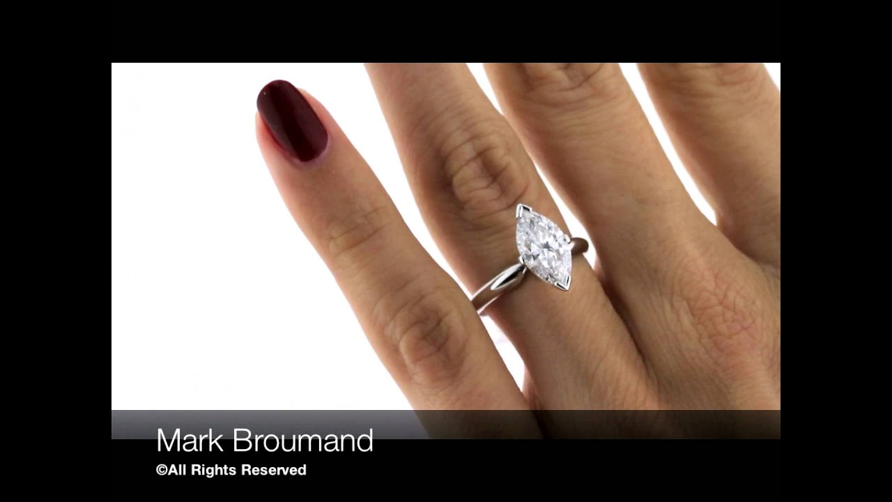 Mark Broumand 202ct Marquise Cut Diamond Solitaire Engagement