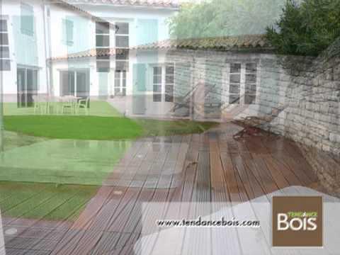 Spa avec terrasse en bois exotique essence ip youtube for Essence de bois exotique