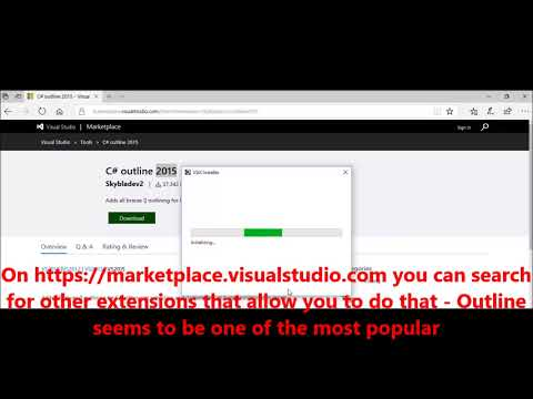 Microsoft VIsual Studio –  How to collapse IF statements