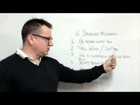 6 speaking mistakes for English exam speaking