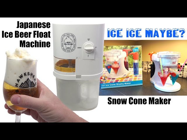 Snow Cone maker & Ice Beer Float machine - I see Kitchen Gadgets