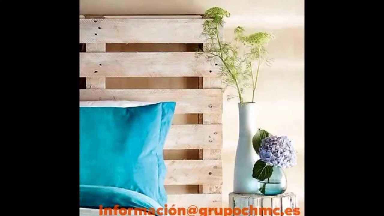 Una cama con palets reciclados youtube - Ideas para hacer cabeceros de cama ...
