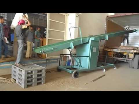 Mobile Conveyor System Loading & Unloading & Stacking Conveyor By Pitroda Machinery, Ahmedabad