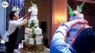 wedding cake tower 1m50 (492) Làm Tháp Bánh Cưới 1m50 (492)