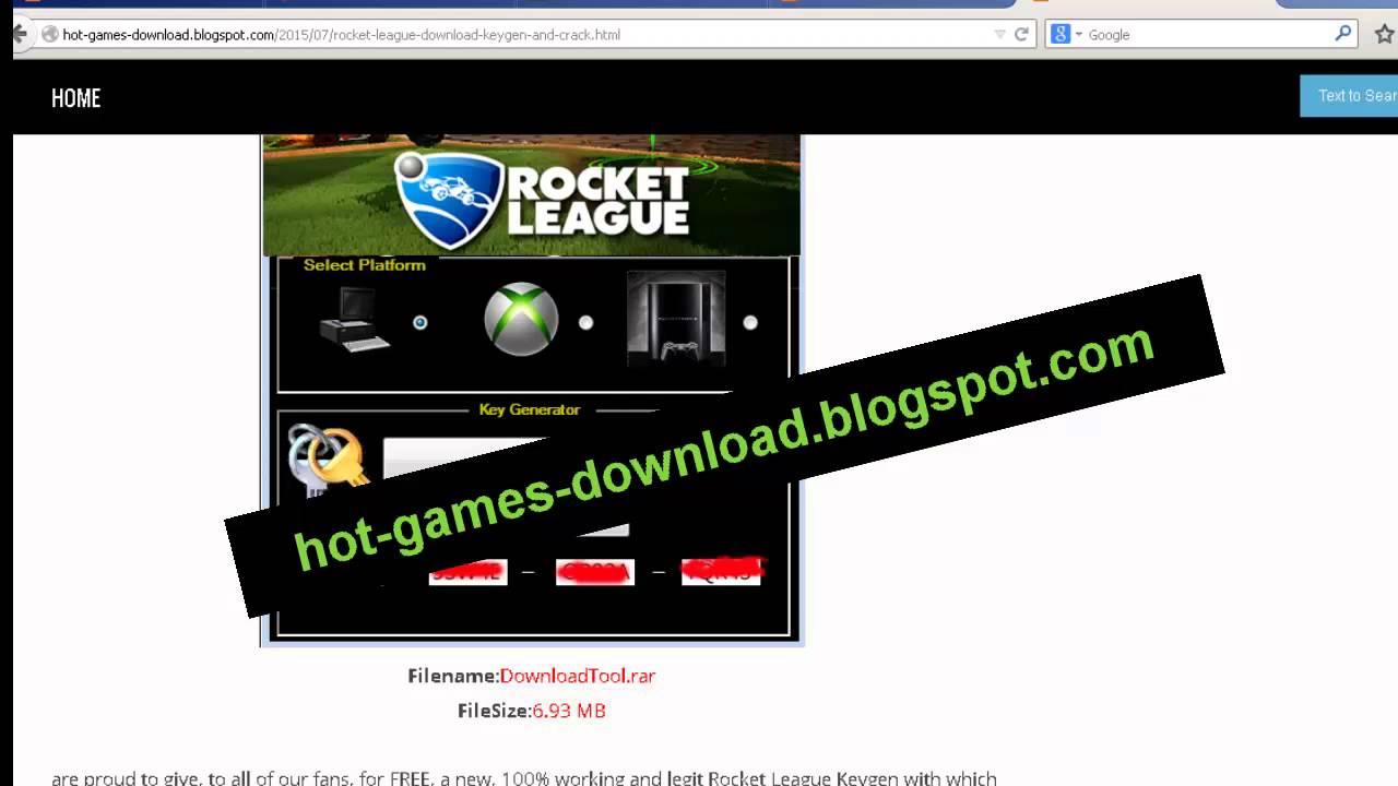 rocket league key generator download