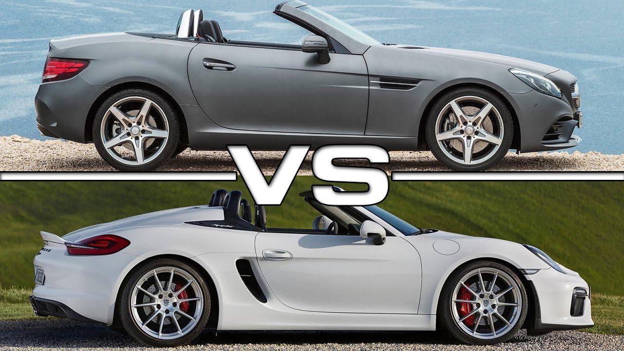 Porsche Boxster Spyder Vs Mercedes Benz Slc Youtube
