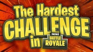 THE HARDEST CHALLENGE in Fortnite Battle Royale?!