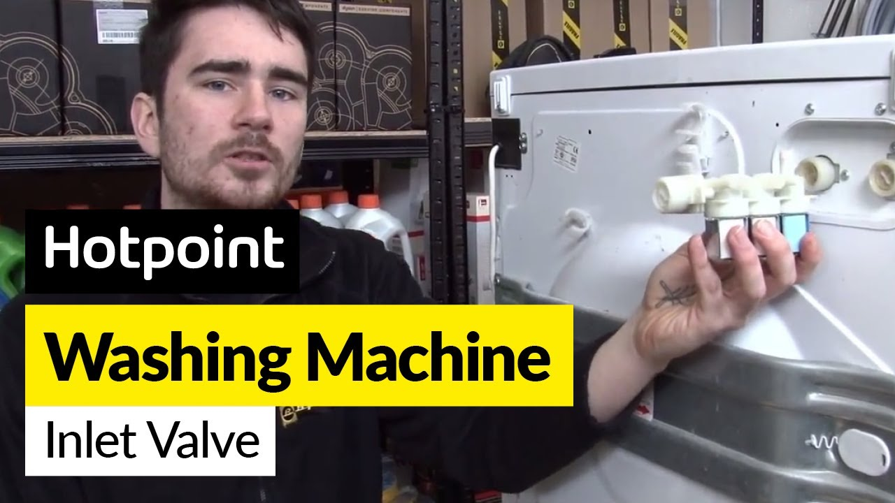 How to replace the water inlet valve on a Hotpoint washing