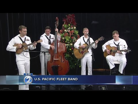 U.S. Pacific Fleet Band spreads cheer worldwide through festive performances