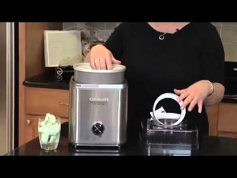 Cuisinart Pure Indulgence 2 Qt Frozen Yogurt Sorbet Ice Cream Maker ICE 30BC Demo Video