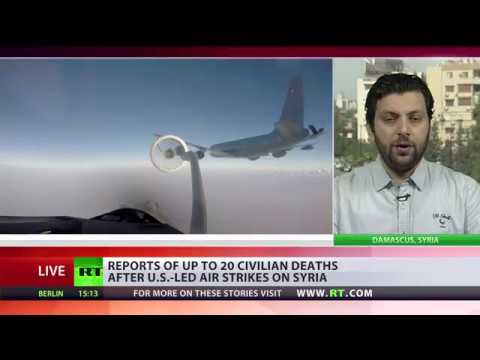 RT: 20 civilians reportedly killed in US-led airstrikes on Syria