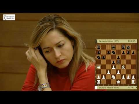 FIDE Womens Grand Prix in Khanty-Mansiysk 2016 R9 Natalia Zhukova vs Nino Batsiashvili London System