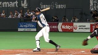【プロ野球パ】突破口つくる12球、中島卓也の四球出塁じっくり見て下さい 2015/10/12 F-M