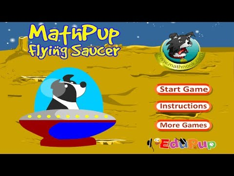 MathPup Flying Saucer Coordinate Grid Game Overview / Tutorial