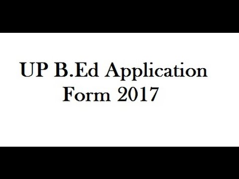 Uttar Pradesh B.Ed Entrance Exam 2017, No Fees, Apply Online - YouTube