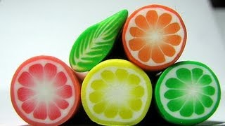 How to: Cut fimo fruit canes