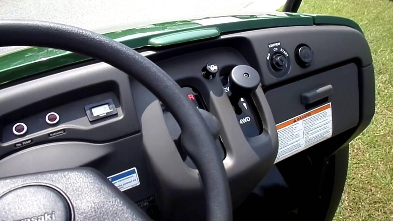 2015 kawasaki mule 610 4x4 green. great off road vehicle. - youtube