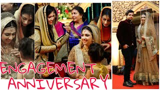 ENGAGEMENT ANNIVERSARY AND CAKE CUTTING 🍰 || ASHNA AND SALEEL || EPISODE 136