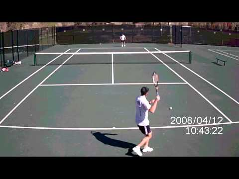 Tennis Camera Video with WingmanHD (compare with MUVI below)