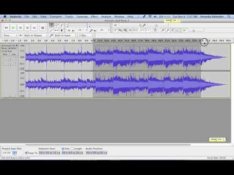 how to make music on audacity