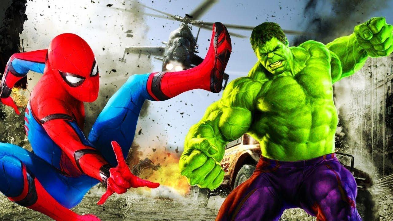 BIG HULK VS SPIDERMAN FIGHTING Funny Video - YouTube