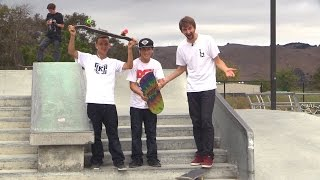TWO SKATERS LAND THEIR FIRST EVER KICKFLIPS DOWN 5!