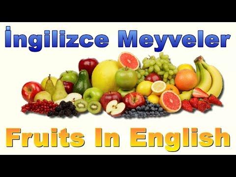Ingilizce Meyveler Fruits Names For Kids Ingilizce Dersleri