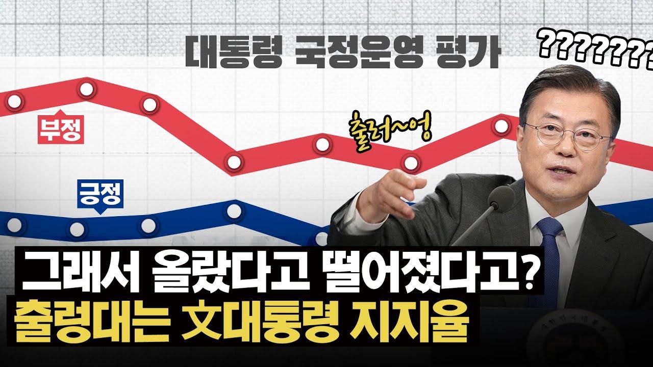 文 지지율 부정(60.3%), 긍정(36.0%)...출렁대는 文 대통령 지지율