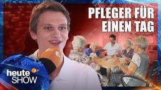 Fabian Köster macht ein Praktikum im Altersheim