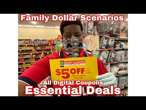 ⚠️⚠️⚠️Family Dollar Essential Deals - All Digital Coupons - Super Easy Newbie Freindly 4/5 - 4/11