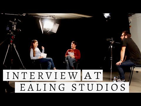Interview at Ealing Studios