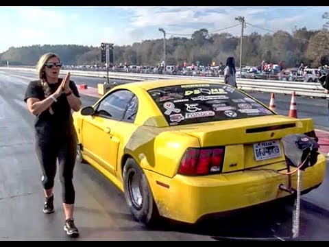 BoostedGT vs The Megg's twin turbo mustang at the dirty south no prep