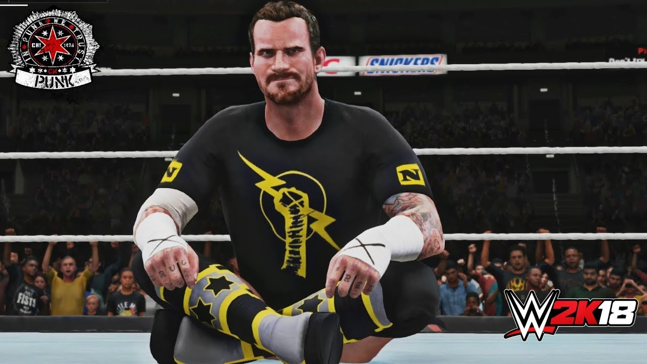 Wwe 2k18 New Nexus Cm Punk Mod Custom Animated Entrance Trons