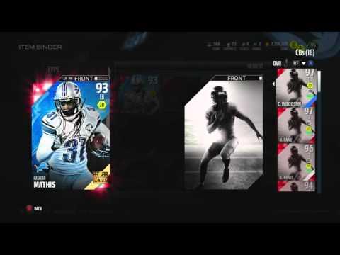 Madden NFL 16 - Lions MVP Set - 93 OVR Rashean Mathis - MUT