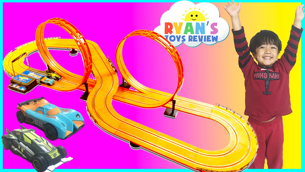 GIANT HOT WHEELS Electric Slot Car Track Set RC Remote Control Racing