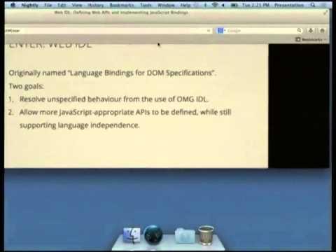 Web IDL: Defining Web APIs and Implementing Javascript Bindings