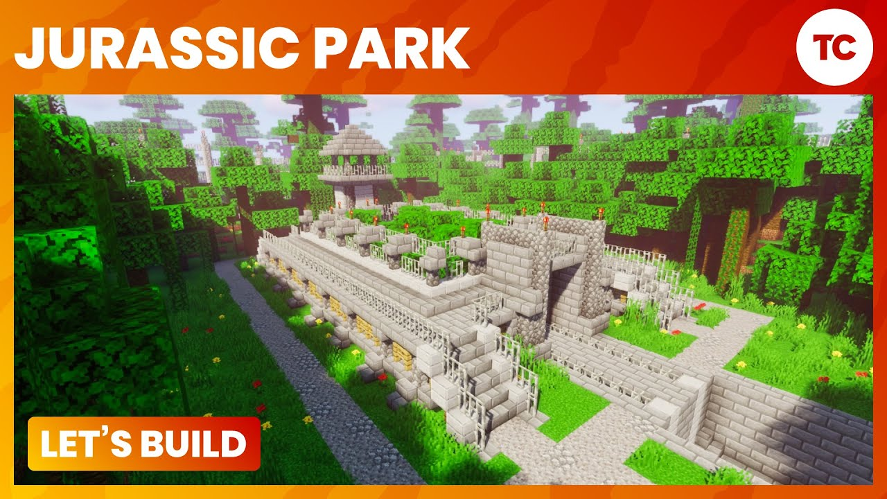 How To Build Jurassic World Gate On Minecraft