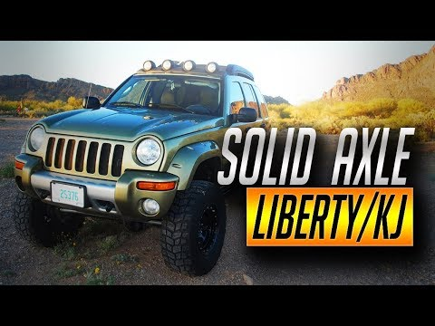 2003 jeep liberty off road kj sfa solid front axle renegade youtube. Black Bedroom Furniture Sets. Home Design Ideas