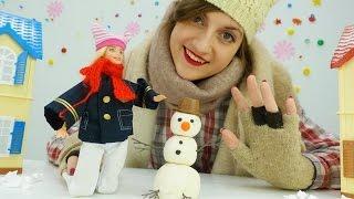 Игры для девочек: кукла Барби, Аня и зимние игры со снегом. Игрушки для девочек