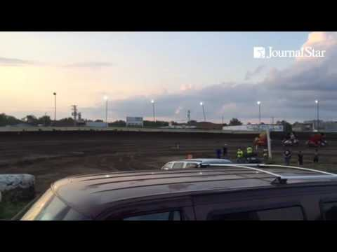 VIDEO: Sprint Car Series action from MOWA tour stop at Peoria Speedway on 7-27-16