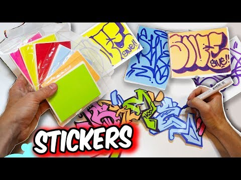 Handmade Colored Stickers