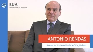 EUA Solutions - Antonio Rendas, Rector of Universidade NOVA, Lisbon thumbnail