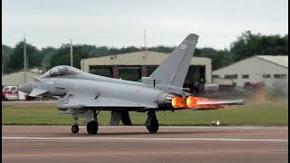 2x RAF Eurofighter Typhoons Performance Take Offs at RIAT 2019