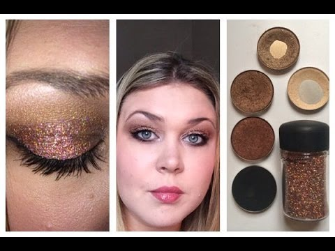 Super Sparkly Mac 3d Copper Glitter Eye Makeup Look Youtube