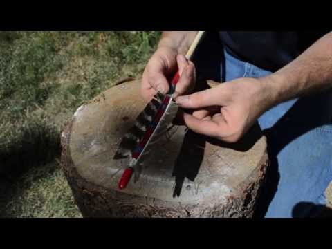 How To Make A Native American Comanche Arrow For Primitive Archery Hunting.